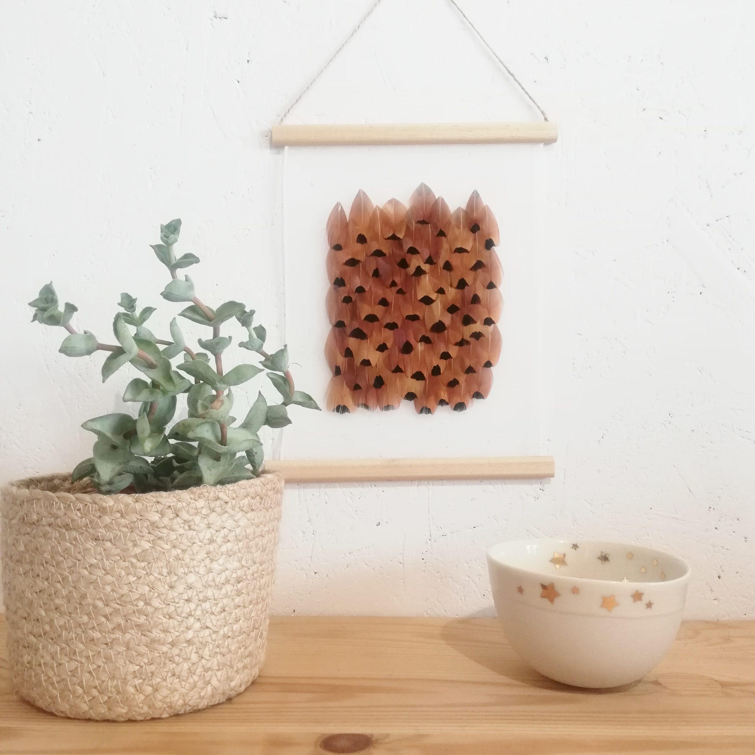 Kakémono carré de faisan de Colchide